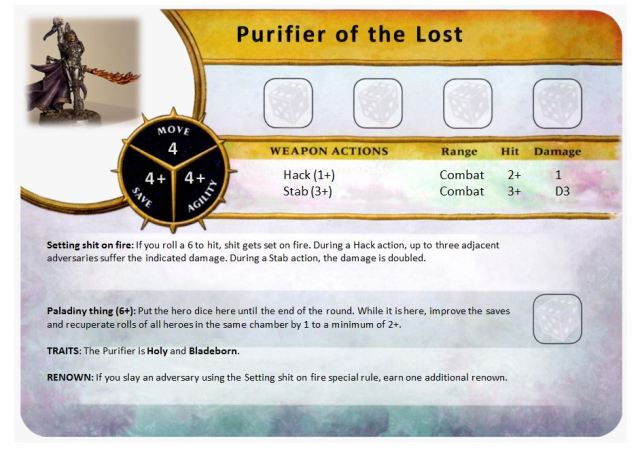 Character - Purifier of the lost